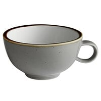 Acopa Keystone 8 oz. Granite Gray Porcelain Cup - 36/Case
