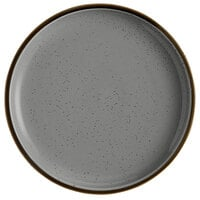 Acopa Keystone 10 1/2 inch Granite Gray Porcelain Coupe Plate - 12/Case