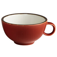 Acopa Keystone 8 oz. Sedona Orange Porcelain Cup - 36/Case