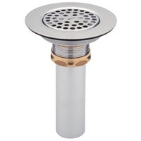 Zurn Z8739-PC 3 inch Sink Drain with Flat Top Strainer, Brass Locknut, and 4 inch Tailpiece
