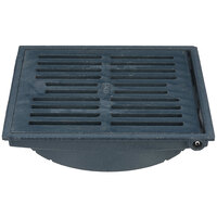 Zurn P610-H-TOP-ASSY 12 1/2 inch Square Cast Iron Hinged Slotted Grate for Z610 Floor Drains