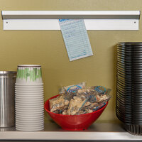 Carlisle 38180A 18 inch x 2 1/2 inch Aluminum Wall mounted Ticket Holder