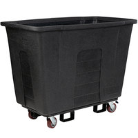 Toter AM110-00BLK 1 Cubic Yard Blackstone Universal Mobile Waste Receptacle (1000 lb. Capacity)