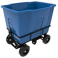 Toter AMA20-00BLU 2 Cubic Yard Blue Rapid Speed Mobile Waste Receptacle (1500 lb. Capacity)