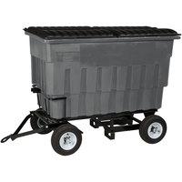 Toter FLA20-10228 2 Cubic Yard Graystone Rapid Speed Mobile Trash Container / Dumpster with Attached Lid (1000 lb. Capacity)