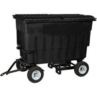 Toter FLA20-10229 2 Cubic Yard Blackstone Rapid Speed Mobile Trash Container / Dumpster with Attached Lid (1000 lb. Capacity)