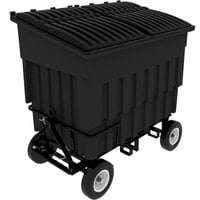 Toter FLA30-00BLK 3 Cubic Yard Blackstone Rapid Speed Mobile Trash Container / Dumpster with Attached Lid (1500 lb. Capacity)