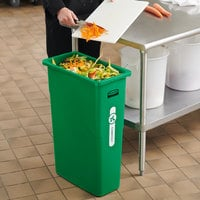 Rubbermaid 2060850 Slim Jim Legacy 23 Gallon Green Rectangular Compost Bin