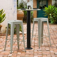 Lancaster Table & Seating Millennium Bolt Down 4 inch Bar Height Column Outdoor Table Base