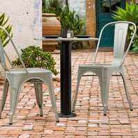 Lancaster Table & Seating Millennium Bolt Down 4 inch Table Height Column Outdoor Table Base