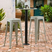 Lancaster Table & Seating Millennium Bolt Down 3 inch Bar Height Column Outdoor Table Base