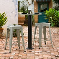 Lancaster Table & Seating Millennium Bolt Down 4 inch Counter Height Column Outdoor Table Base