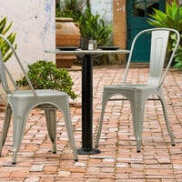 Lancaster Table & Seating Millennium Bolt Down 3 inch Table Height Column Outdoor Table Base