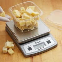 San Jamar / Escali SCDG2LP Nova 2 lb. Digital Portion Control Kitchen Scale