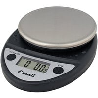 San Jamar / Escali SCDGP11BK 11 lb. Round Professional Black Digital Portion Control Kitchen Scale