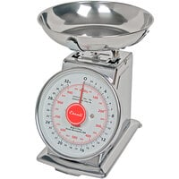 San Jamar / Escali SCDLB2 Mercado 2 lb. Mechanical Dial Portion Control Kitchen Scale