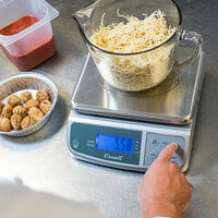 San Jamar / Escali SCDGM33 33 lb. Multi-Function Digital Portion Control Kitchen Scale