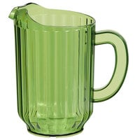 Choice 60 oz. Bamboo Green SAN Plastic Beverage Pitcher