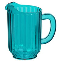 Choice 60 oz. Turquoise SAN Plastic Beverage Pitcher