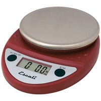 San Jamar / Escali SCDGP11RD 11 lb. Red Round Professional Digital Portion Control Kitchen Scale