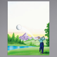 8 1/2 inch x 11 inch Menu Paper - Country Club Themed Golf Design Cover - 100/Pack