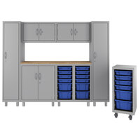 Hirsh Industries 1947473-PKG Makerspace Classroom Starter Storage System with Lockers, Cabinets, Mobile Storage Tower, and Worksurface