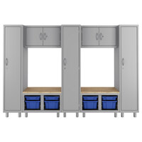 Hirsh Industries 1947469-PKG Makerspace Classroom Starter Storage System with Lockers, Cabinets, Storage Benches, and Worksurfaces