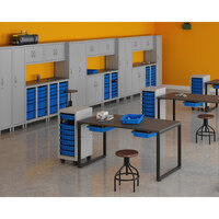 Hirsh Industries 1947470-PKG Makerspace Classroom Starter Storage System with Lockers, Cabinets, Storage Benches, and Worksurface