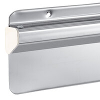 American Metalcraft TR48 48 inch x 3 1/2 inch Stainless Steel Wall Mounted Ticket Holder