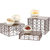 Oneida BA3000 Buffet Euro 3-Piece Copper Finish Metal Display Riser Set