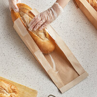 Bagcraft Packaging 300863 EcoCraft 6 1/2 inch x 2 inch x 17 3/4 inch Dubl-Panel Artisan Bread Bag - 1000/Case