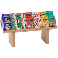 Oneida 3ST124 Pure Nature 30 inch x 10 inch x 13 inch 2-Tier Beech Wood Cereal Box Display Shelf