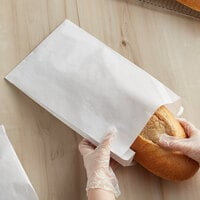 Bagcraft Packaging 300168 8 1/2 inch x 3 1/2 inch x 14 inch White Bread Bag - 1000/Case