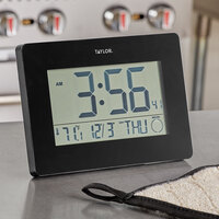 Taylor 5265191 Digital Wall Clock with Thermometer and Calendar