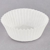 Hoffmaster 610010 1 5/8 inch x 15/16 inch White Fluted Baking Cup - 10000/Case