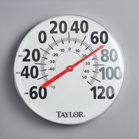 Taylor 681 18 inch Dial Indoor / Outdoor Wall Thermometer