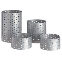 Front of the House BRI004BCI20 Dots 4-Piece Stainless Steel Riser Set
