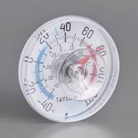 Taylor 5321N 3 1/2 inch Dial Stick-On Outdoor Window Thermometer