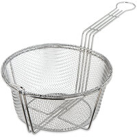 Carlisle 601003 13 1/2 inch Round Chrome-Plated Steel Coarse Mesh Culinary Basket