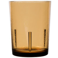 Cambro D14609 Del Mar 14 oz. Light Amber Customizable SAN Plastic Tumbler - 36/Case