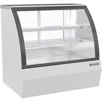 Beverage-Air CDR4HC-1-W-D 49 1/4 inch Curved Glass White Dry Bakery Display Case