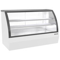 Beverage-Air CDR6HC-1-W-D 73 11/16 inch Curved Glass White Dry Bakery Display Case