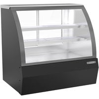 Beverage-Air CDR4HC-1-B-D 49 1/4 inch Curved Glass Black Dry Bakery Display Case