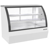 Beverage-Air CDR5HC-1-W-D 60 1/4 inch Curved Glass White Dry Bakery Display Case