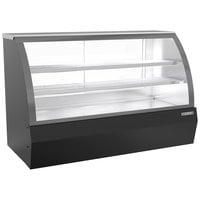 Beverage-Air CDR6HC-1-B-D 73 11/16 inch Curved Glass Black Dry Bakery Display Case