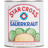 Star Cross #10 Can Sauerkraut - 6/Case