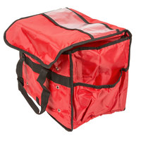 American Metalcraft PBSB1512 Standard Red Nylon Sandwich / Take-Out Delivery Bag, 15 inch x 9 inch x 12 inch