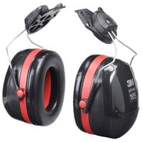 3M H10P3E PELTOR™ Optime™ 105 Black / Red Cap-Mount Earmuffs