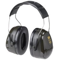 3M H7A PELTOR™ Optime™ 101 Black / Green Over-the-Head Earmuffs