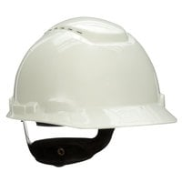 3M H-701V White 4-Point Ratchet Suspension Vented Hard Hat